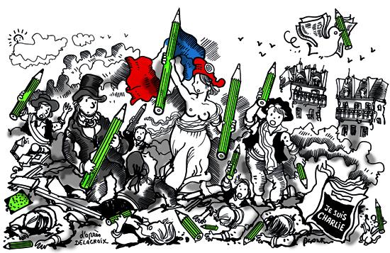 la liberté guidant le peuple Plantu Charlie Hebdo